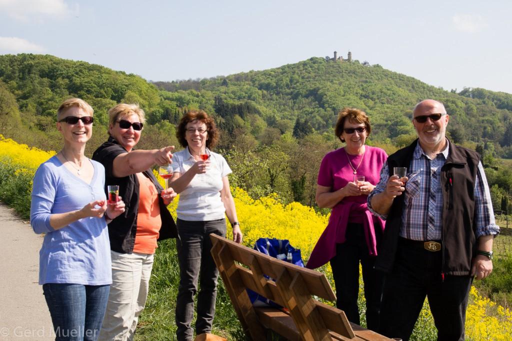 Pause auf dem Weinlagenweg - bei Zwingenberg
