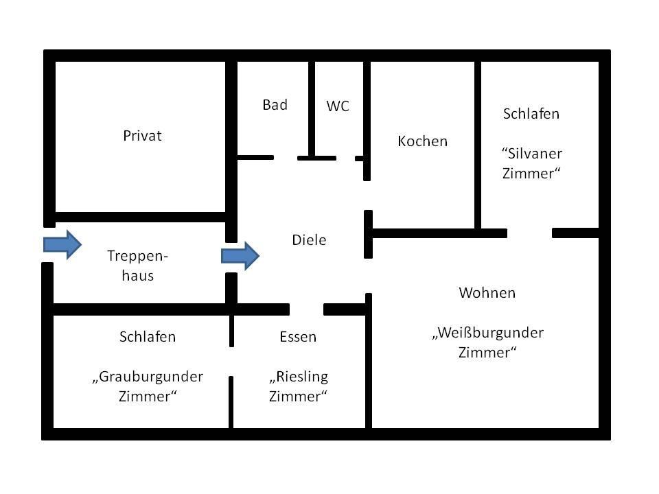 Plan Ferienwohnung Guth Bensheim